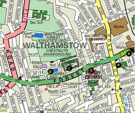 Map Of Walthamstow Walthamstow Wood Street Map